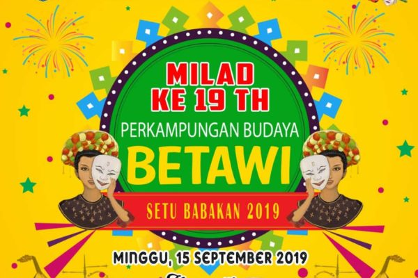 setu babakan betawi event 19th ANNIVERSARY OF THE BETAWI CULTURAL VILLAGE